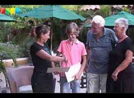 Félipe Saelmans donates to Bonaire nature